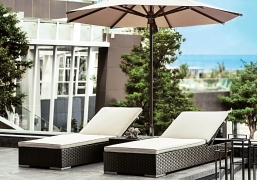 Ξαπλώστρες Rattan Artie Tatta Lounge Set 3τμχ