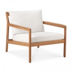 Teak Jack outdoor lounge chair off white 76X90cm